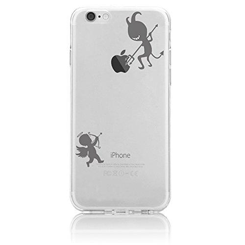 Funda iPhone 7 Case Clear Sunroyal® Premium TPU Carcasa Impresión Suave Ultra Slim / Resistente a los Arañazos Flexible Bumper Transparent Case Cover [Ultra-delgado] [Shock-Absorción] [Anti-Arañazos]  A-05