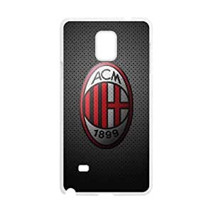 Samsung Galaxy Note 4 Cell Phone Case White AC Milan Football 0011 Exquisite designs Phone Case KM48H756