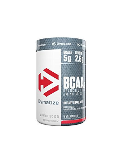- Dymatize BCAA Complex 5050 Powder, Promotes Muscle Regeneration, Time Released Aminos, Watermelon, 10.6 Oz