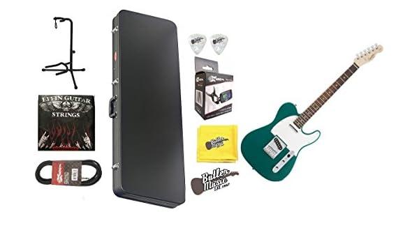 Fender Squier afinidad Carrera verde Telecaster guitarra eléctrica w/carcasa rígida y más: Amazon.es: Instrumentos musicales