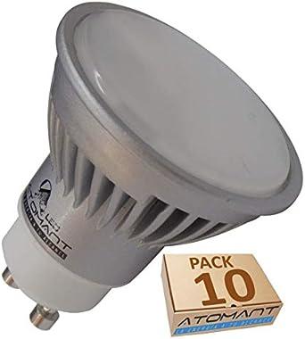 Pack 10x GU10 LED 7W potentisima. Halogeno LED 680 lumenes reales - Recambio bombillas 60W (Blanco frio 6500k): Amazon.es: Iluminación