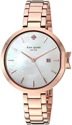 Kate Spade New York Women's 'Park Row' Quartz Stainless Steel Casual Watch, Color Rose Gold-Toned (Model: KSW1323)