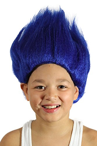 My Costume Wigs Big Troll Wig (Blue) One Size Fits All - Blue Hair Girl Costume