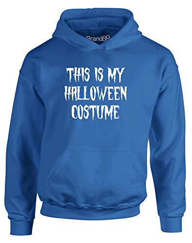 This is my Halloween Costume, Kids Printed Hoodie - Royal Blue/White 9-11 (Pinterest Halloween Costumes For Kids)