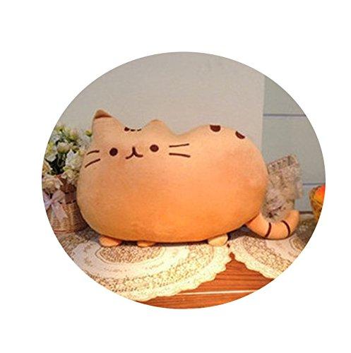 Gobize Almohada de felpa suave para gatos con forma de gato ...