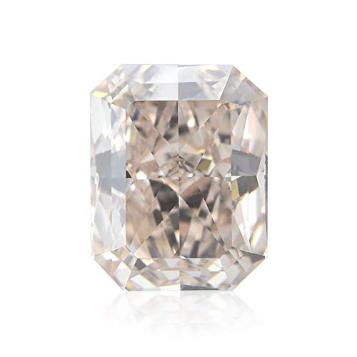Leibish & Co 1.05Cts Fancy Light Brown Pink Loose Diamond Natural Color Radiant Cut GIA Cert