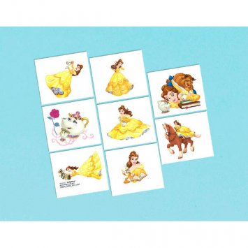 Beauty and the Beast 'Dream Big Tattoos (8 count) Birthday Party Supplies