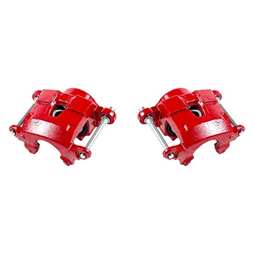 CK01016 [ 2 ] FRONT Performance Grade Red Powder Coated Caliper Assembly Pair - Performance S10 Chevrolet