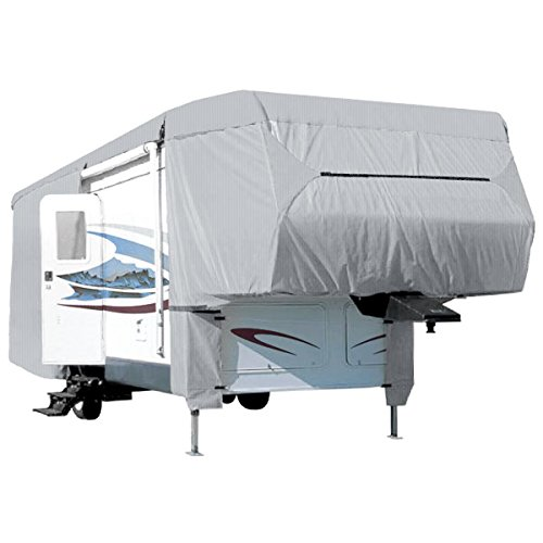 Waterproof Superior 5th Wheel Toy Hauler RV Motorhome Cover Fits Length 29'-33' New Fifth Wheel Travel Trailer Camper Zippered Panels Heavy Duty 4 Layer Fabric (Best 5th Wheel Travel Trailers)