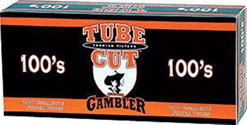 Gambler Tube Cut Full Flavor 100 Cigarette Tubes (200 Ct Per Box) 5 Boxes