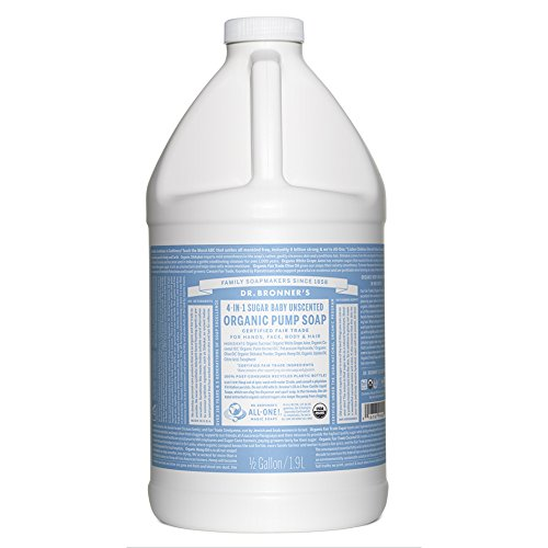 (Dr. Bronner's Organic Sugar Soap - 64 oz. Refill (Baby Unscented) )
