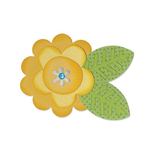 Sizzix Bigz Die, Flower Layers and Leaf #2 by Doodlebug Design (Doodlebug Albums Scrapbook Supplies)