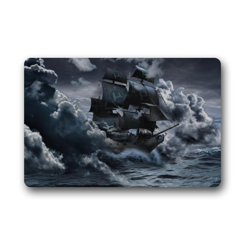Pirate Ship On The Sea Rug