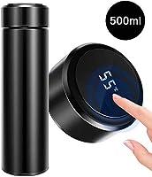 500ml Wasserflasche Vakuum Isolierbecher 304 Edelstahl, LED-Touchscreen-Temperaturanzeige, Smart Becher Dichtflasche...