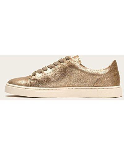 Full Gold Fashion Grain Metallic Women's Ivy Sneaker Lace Frye Low YgwB8