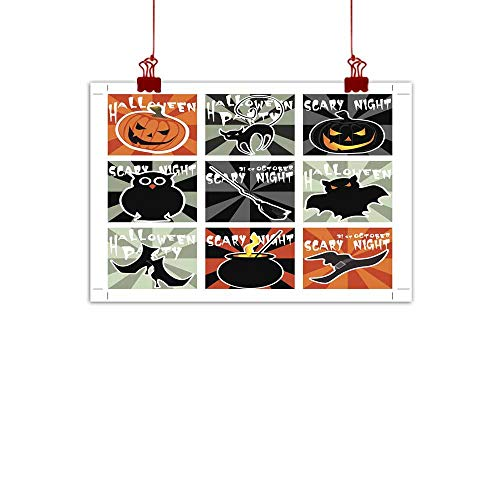 Mannwarehouse Light Luxury American Oil Painting Halloween Card Set Home and Everything 35