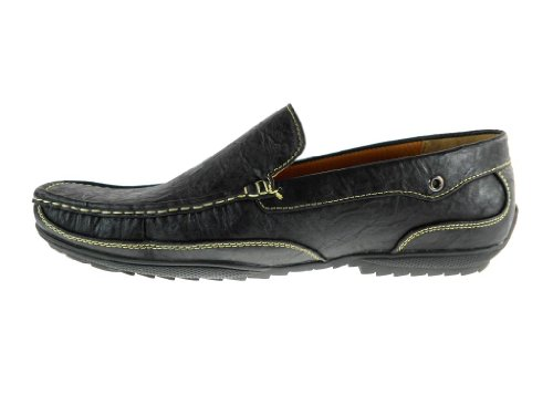 Mens Antonio Casual Moccasin Slip On Driver Loafer Shoes Black u6TmfpHU