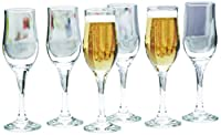 Circleware Tulipe Champagne Flute Glass, 6.75 oz., Clear