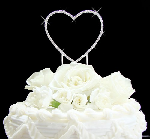 Renaissance Single Heart Wedding or Anniversary Cake Topper - Renaissance Single