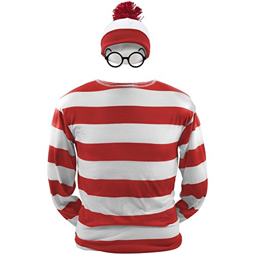 Waldo Girl Where's Costume (Where's Waldo - Waldo Youth Costume Kit Youth Small)