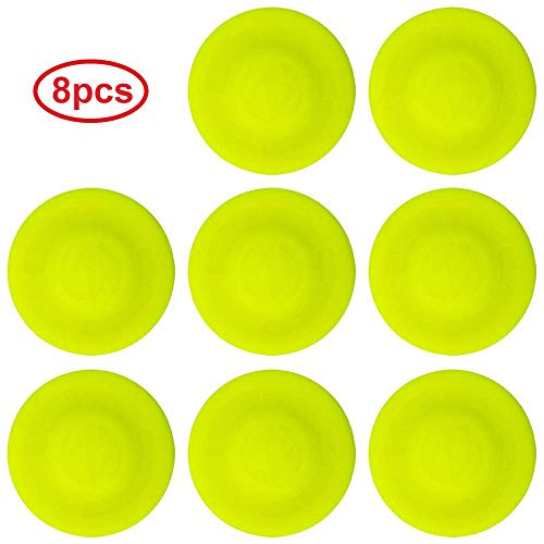 yelleleekshop 8PCS Flying Disc Flying Saucers Mini Frisbee Pocket Flexible Frisbee Spin in Catching Game Rotating Outdoor ()