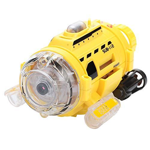 Hanbaili Remote Control Submarine Small Mini Camera Submarine with RC Yellow Feeding Education