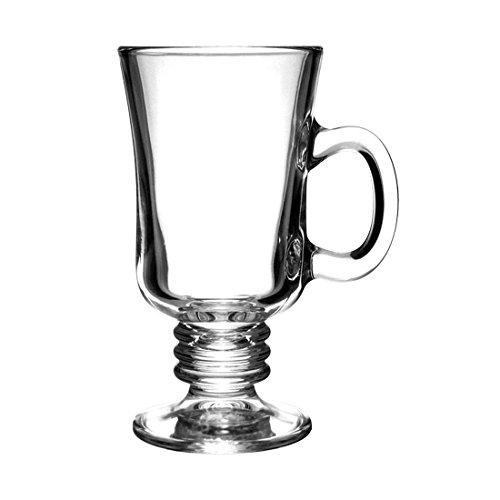 Irish Coffee Mug - Glass - Set of 4 - 8.5 Ounce by Cups and Glasses (Image #1)