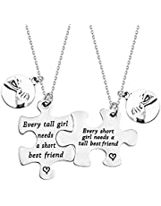 PLITI Funny Short Tall BFF Matching Gifts Best Friends Bracelet Set of 2 BFF Gift Every Short Girl Needs a Tall Best Friend BFF Friends Jewelry Set Friendship Gift Bestie Gifts