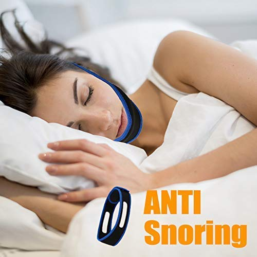 HJSNORE Anti Snoring Devices Chin Strap - Snoring Solution to Help Good Sleep - Adjustable Snore Reduction Straps -Natural Stop Snoring Devices for Men and Women