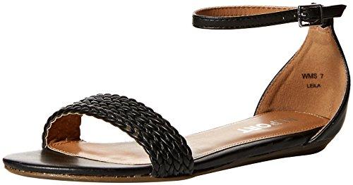 Report Women's Leila Flat Sandal, Black, 8 Medium US (Shoes Flat Womens Report)