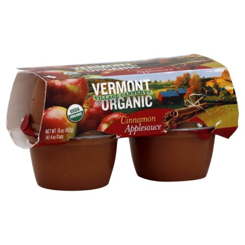 Vermont Village Applesauce Cups Cinnamon, 16-Ounce (Pack of 6) made in Vermont