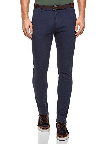 7500n Uomo Oodji Blu In Chino Pantaloni Cotone Ultra nTxU7xvH8