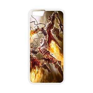 Kratos God Of War 3 iPhone 6 4.7 pulgadas Caja del teléfono celular de cubierta funda blanca funda cubierta EOKXLLNBC03527