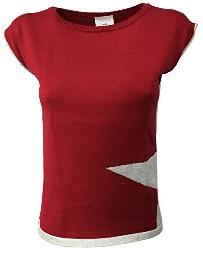 Nodo Tmd07s Rosso Scesa Mod Cotone Donna Camicia stella 100 Manica wgqrUwaO
