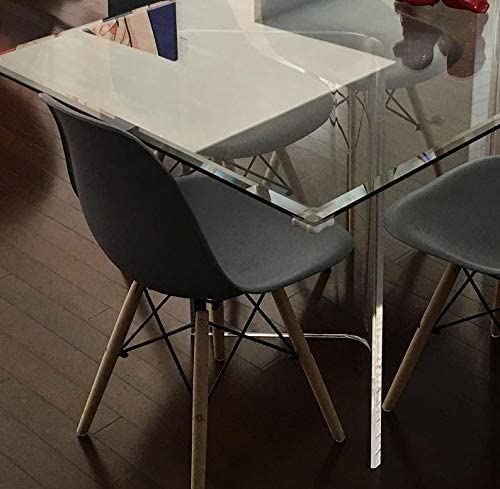 Acrylic V's or Boomerang Dining Table Bases 2 Clear 29 high x 3 4 Thick