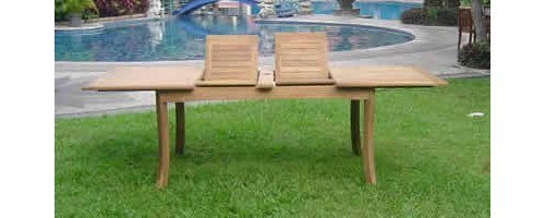 Double Extension Dining Table (Grade-A Teak Wood Extra Large double extension 117