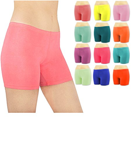 Sexy Basics Women's 6 Pack Cotton Stretch Vibrant - Sleep Panties
