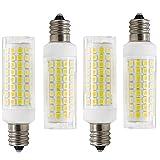 75 watt ceiling fan bulbs - Dimmable E12 LED Candelabra Base Bulbs,7W 120V E12 Led Bulb, E12 75W Halogen Lamp Replacement, Daylight White 6000K, 750 Lumens, for Chandelier, Ceiling Fan, Desk Lamp(4Pack)
