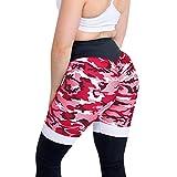 Ulanda_Women Leggings Camo Ruched Butt Lifting Leggings High Waisted Workout Sports Gym Running Yoga Pants (Small, Red NX106)