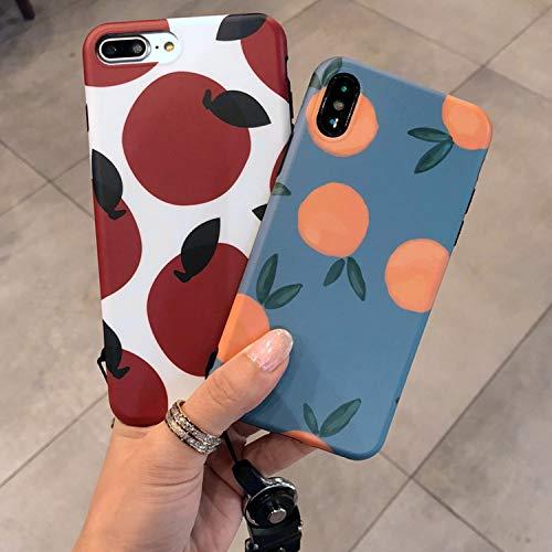 Latest Ins Retro Orange AppleXs max Mobile Phone Shell 7p Tide Brand 6plus Small Fresh for iPhone8 Female XR,Orange,for iPhone XR orange iphone xr case 3