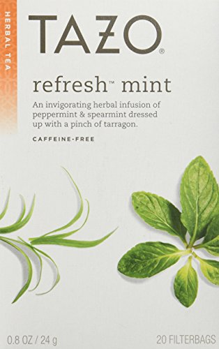 (Tazo Refresh Herbal Infusion Tea, Caffeine Free, 20-Count Tea Bags (Pack of 6))