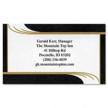 Amazon onyx business cards set of 250 2 x 3 12 custom onyx business cards set of 250 2quot x 3 12quot reheart Gallery