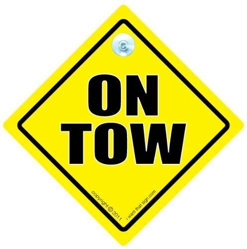 On Tow Car Sign, On Tow Sign, On Tow Car Sign, Car Sign, Bumper Sticker, Baby on Board, Driving Sign, Automobile Sign, Vehicle Sign, Joke car signTowing Sign, On Tow Sign, Car Sign, Bumper Sticker, Baby on Board, Driving Sign, Automobile Sign, Vehicle Sign