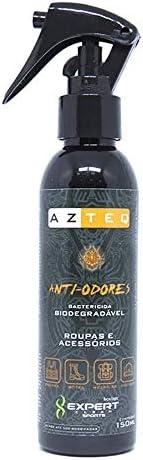 Spray anti-odores Azteq indicado para roupas e acessórios, bactericida e biodegradável