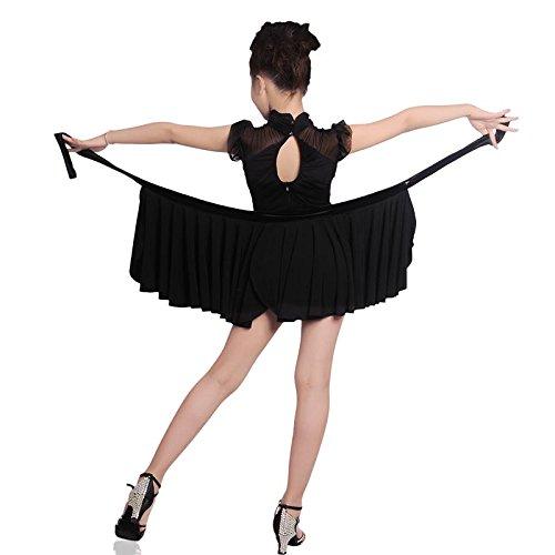 Embiofuels(TM) New Girls Latin Salsa Tango Dance Dress Kids Black Ballroom Samba Rumba Dance Costume Child Magical 2 Pieces Bullfighting Skirts