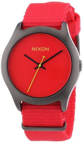 nixon-mens-quartz-black-ion-plated-stainless-steel-and-nylon-casual-watch-colorred-model-a348-1600