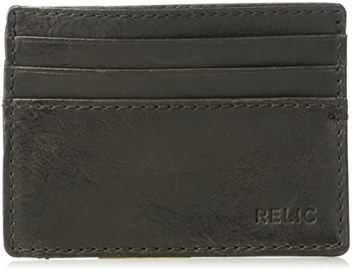 Relic by Fossil Men's Barret Leather Card Case Wallet, Brown