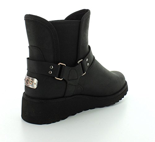Black Leather Glen Womens UGG Boots Australia ycSS7C