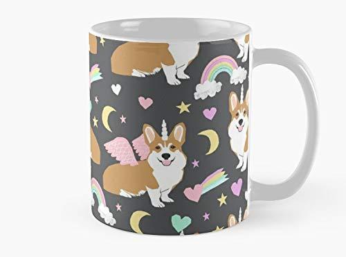 Corgi Unicorn pastel rainbow clouds Classic Mug, Standard Mug Mug Coffee Mug Tea Mug - 11 oz Premium Quality printed coffee mug - Unique Gifting ideas for Friend/coworker/loved ones - Pastel 11 Ounce Mug