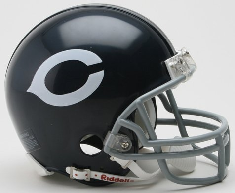 (Riddell Chicago Bears Mini Replica Throwback Helmet - Chicago Bears Black One Size)